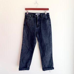 Carly Jean LA Black Straight Leg Jeans